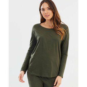 BANANA REPUBLIC 100% Modal Green Long Sleeve Top